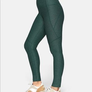 Outdoor Voices Hi-rise 7/8 warmup leggings - green